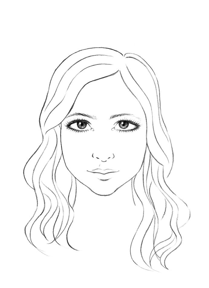Como Desenhar Um Rosto Humano Feminino Passo A Passo