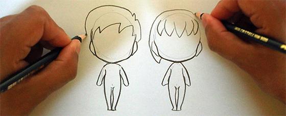 Videoaula Como Desenhar Personagens Chibi 2 Corpo Masculino