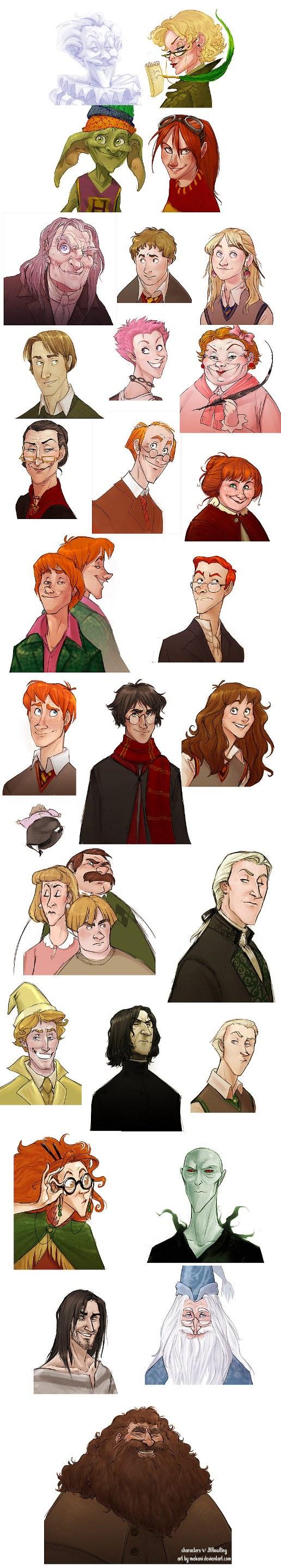 Artista Cria Versão De Personagens De Harry Potter No Estilo