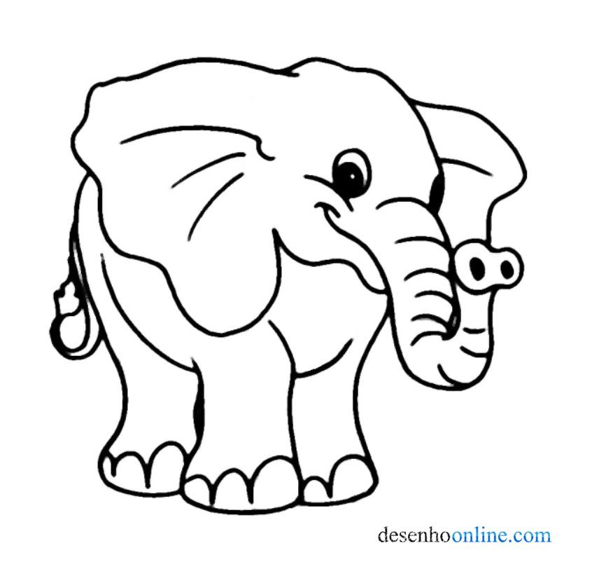 Desenhos Para Colorir Elefante