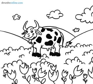 Desenhos Para Colorir Vaca